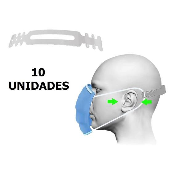 Hebilla Regulador Gancho Tapa Bocas Mascara Barbijo X 10 U