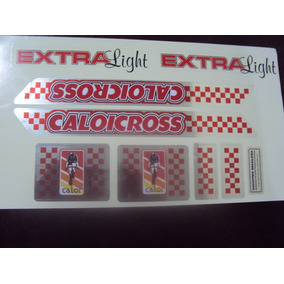 Adesivo Caloi Cross Extra Light Metalizado 84 Vermelho