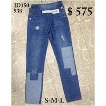 Pantalones Prelavados Desgastados Con Parches Yroturas/envio