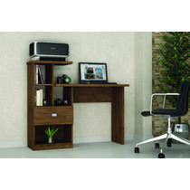 Escrivaninha, Mesa Para Computador Conn - Cor Avelã