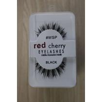 Cilios Postiços Red Cherry #wsp O Par 100% Cabelo Humano
