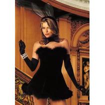 7508 Sexy Disfraz De Conejita Negro Chico / Mediano