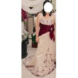 Vestido Sereia Com Bordado Faixa Cetim Noiva, Madrinha