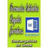 Formatos Editables Documentos Juridicos Legales X Documento