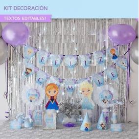 Mega Kit Frozen Para Decoracion De Fiesta Y Candy Bar