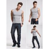 Kit Com 5 Camisetas Masculinas Regata Machão 100% Algodão