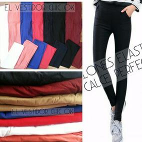 Pantalones Chupin Elastizados Oficina Importados Calidad