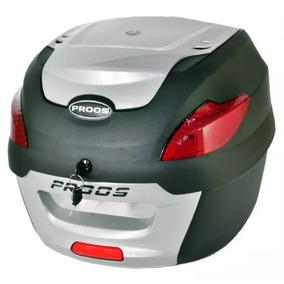 Bau Moto Bauleto 41 Litros Proos Motocicleta Preto E Prata