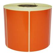 Rollo Etiquetas Autoadhesivas Ilustración 80x50x1000 Naranja