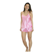 Pijama De Raso Liso Mujer Verano