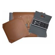 Bolsa Mala Pasta Capa Notebook Executiva E Mousepad Couro Sm