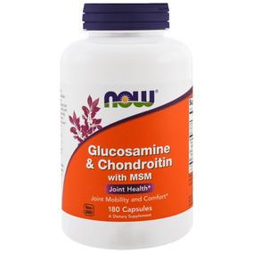Now Foods - Glucosamina E Condroitina Com Msm 180 Caps