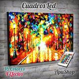 Cuadros 90x60 Luminosos Led Arte Pintura Afremov Paisaje