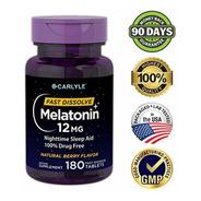 Melatonina 180 Caps Dormir Mejor Relajación Sueño Profundo