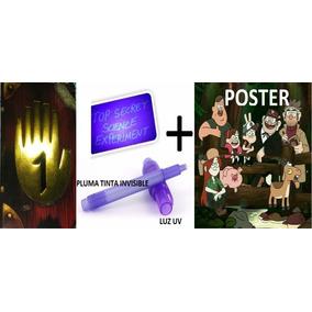 Diario 1 A Color Gravity Falls + Lámpara Uv + Pluma+ Poster