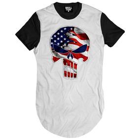 Camisa Punisher America Blusa Justiceiro Usa Eua Bandeira