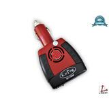 Inversor De Voltaje Para Auto De 12v A 110v Rojo Kp-150w