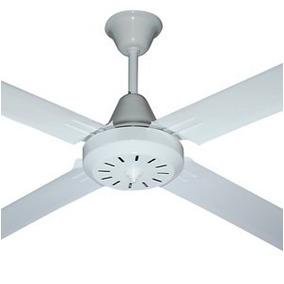 Ventilador De Techo Altus 4 Paletas Metal Blanco/marron