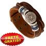 Pulseira Bracelete Artesanal Couro Genuíno + Frete Grátis