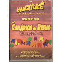 Multioke Canarios Do Reino Arrasta Pé Dvd + Cd Lacrado Novo