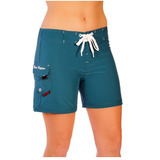 Short Traje De Baño Maui Rippers Tipo Surfer P/ Mujer Colors