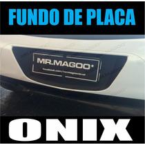Adesivo Fundo De Placa Chevrolet Onix Para-choque