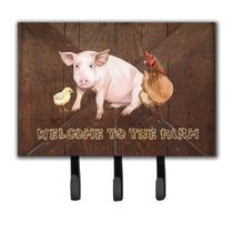 Bienvenido A La Granja Con El Cerdo Y Pollo Correa O Titular