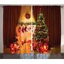 Cortina Ambesonne Motivo Navideño Arbol De Navidad