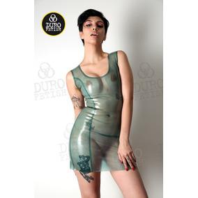 Vestido Latex, Color Agua Transparente En Talles S Y En M
