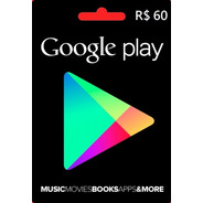 Google Play Store Gift Card R$60 Reais Android