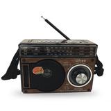 Caixa De Som Portátil 8156 Rádio Mp3 Sd Usb Am Fm 9 Bandas