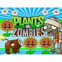 Kit Imprimible 2 Plantas Vs Zombies Diseñá Tarjetas Cumples