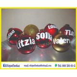 Esferas Navideñas Personalizadas Paquete 30 Piezas