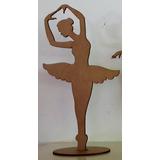 3 Bailarinas Mdf 60 Cm Festas Decorações