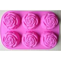 Molde De Silicon De Rosas Reposteria