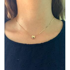 Collar Chapa De Oro 10k Iniciales Perla Corazón