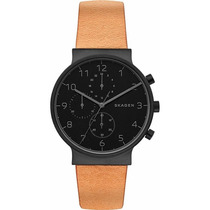 Relógio Skagen Ancher Brown Leather Chronograph Watch