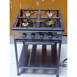 Cocina Semi-industrial De 4 Hornillas ,fogon Alto