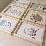 Cuadritos Cuadros Infantiles Kit X 3u. Marcos Box 13x18 Cm