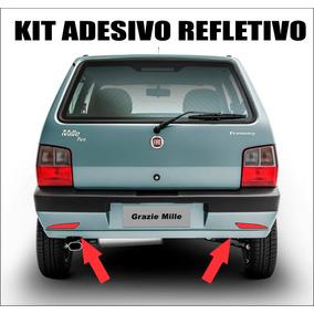 Kit Adesivos Refletivo Para-choque Uno Mille Sx Ex Acessório