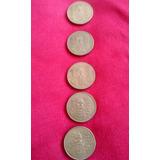5 Monedas 100 Pesos Venustiano Carranza 1990 De Coleccion