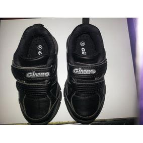 Zapatos Escolares Negro Tipo Deportivo Talla 24