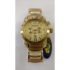 Relógio Original Atlantis Dourado Frete Gratis
