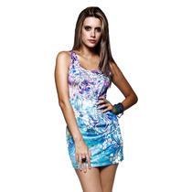 Vestido Com Detalhes Em Pedras Estilo Ed Hardy - Ref. 1005
