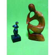 Esculturas Firmadas - Bronce - Madera -