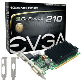 Placa De Vídeo Evga Geforce 210 1gb Ddr3 Vga Hdmi Dvi