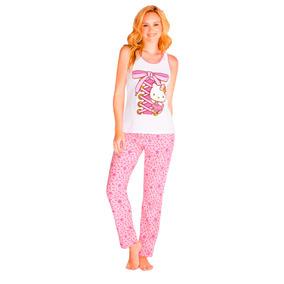 Pijama Para Mujer Hello Kitty Incluye Blusa Y Pantalon 4605