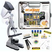 Microscopio Hokenn 1200x Zoom Proyector Luz Muestras Maletin