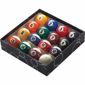 Bolas De Bilhar Numeradas Snooker Sinuca 52mm - 16 Peças