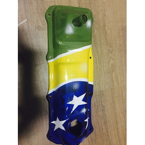 Tampa De Válvulas Vw Motor Ap Grafitada Bandeira Brasil